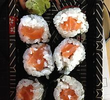 Sake Maki / Salmon Roll - Sushi - Food by Raccoon-god
