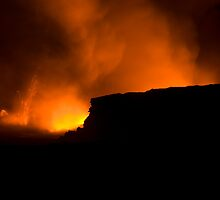red hot lava hawaii by photoeverywhere