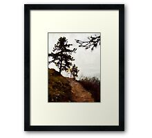 Path To The Clouds Framed Print