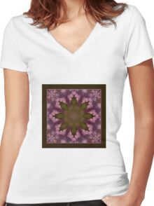 Flower of the Dragonfly - Shawl Women's Fitted V-Neck T-Shirt