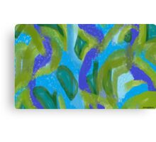 Sea Foam Ocean Currents, with Seaweed Canvas Print