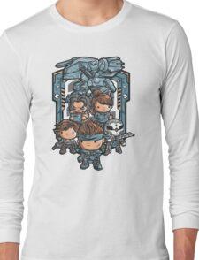 Metal Cute Solid  Long Sleeve T-Shirt