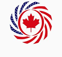 Canadian American Multinational Patriot Flag Series 1.0 Unisex T-Shirt