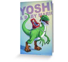 Yoshi BADASS Greeting Card