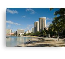 beautiful Waikiki beach Canvas Print