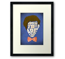 Bow Ties Are Cool - Blue Framed Print