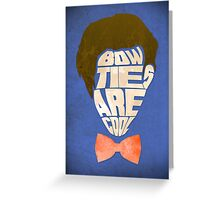 Bow Ties Are Cool - Blue Greeting Card