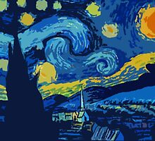 Starry Night- A Vincent Van Gogh Classic by slowdiiv