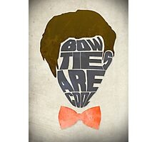 Bow Ties Are Cool - White Photographic Print
