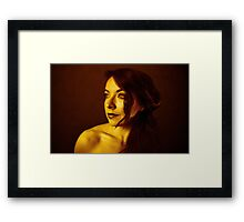 Calmness of light Framed Print