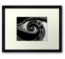 Infinity of the eye of time  Framed Print