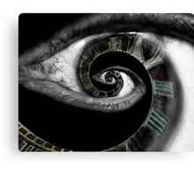 Infinity of the eye of time  Canvas Print