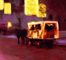Christmas Carriage Ride In Vienna by Menega  Sabidussi