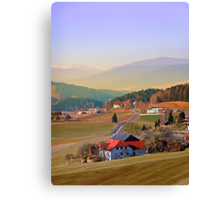 Country road in amazing panorama | landscape photography Canvas Print