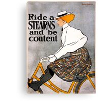 Vintage Stearns Bicycle Advertising Poster Canvas Print