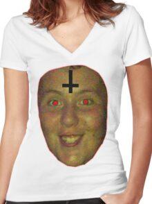 jon is satan Women's Fitted V-Neck T-Shirt