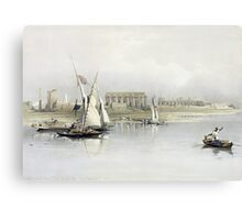 General View of the Ruins of Luxor from the Nile Canvas Print