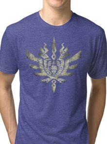 Monster Hunter 4 Logo BONE bright Tri-blend T-Shirt
