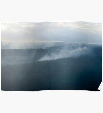 volcanic smoke cloud Poster