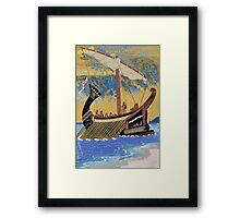 The Ship of Odysseus Framed Print