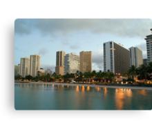 Waikiki Sunrise Hotels Canvas Print
