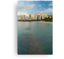 Waikiki beach and hotels Canvas Print