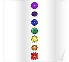 Seven vertical chakras Poster