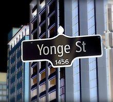 Yonge Street Sign by Valentino Visentini