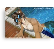 Pool side furry Canvas Print