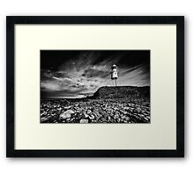 Black Nore Framed Print