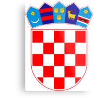 Coat of Arms of Croatia  Metal Print