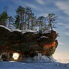 Frozen Keyhole, Apostle Islands,WI by Michael Treloar