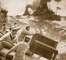 Throwing Overboard All Inflammable Luxuries When a Battleship is Cleared for Action by Bridgeman Art Library