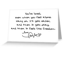 Taylor Swift Quote Greeting Card