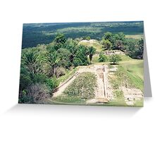 Aerial View of Mayan Pyramid, Belize, Central America Greeting Card