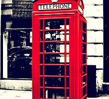 Red British Telephone Booth  by Jonicool
