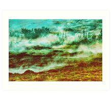GAMMA Geometric landscape Art Print