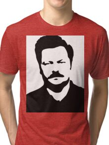 Ron Swanson - Parks and Recreation Tri-blend T-Shirt