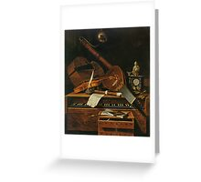 Still life with musical instruments Greeting Card