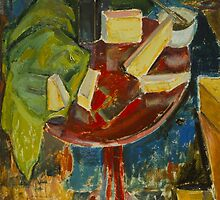 Red Table Top Still Life by Bridgeman Art Library