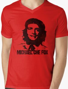 Michael Che Fox Mens V-Neck T-Shirt