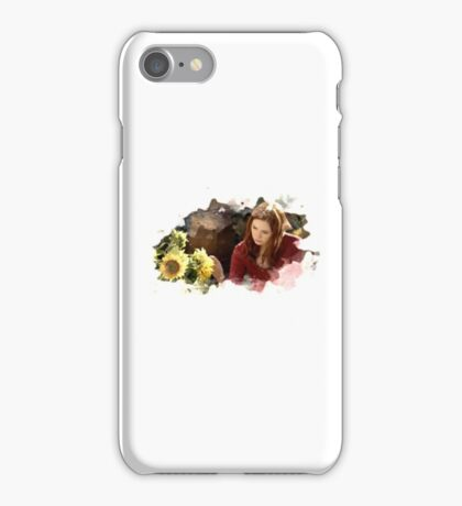 amy pond and sunflowers iPhone Case/Skin