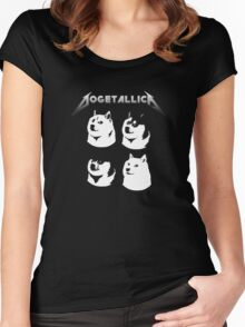 Dogetallica - Dogecoin inspired by Metallica Women's Fitted Scoop T-Shirt