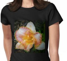 Peach daylily Womens Fitted T-Shirt