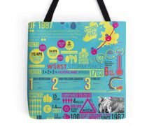 'The Great Storm of 1987' - Infographic poster Tote Bag