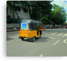 Taxi, India Style Canvas Print