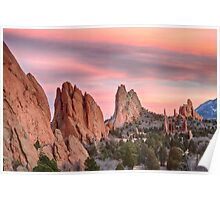 Colorado Garden of the Gods Sunset View Poster