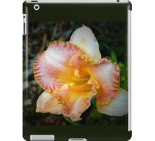 Peach daylily iPad Case/Skin