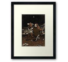 Minotaur Loves Man-Bull Framed Print