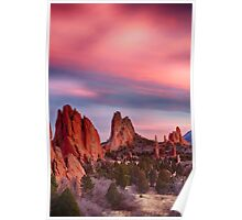 Garden of the Gods Sunset Sky Portrait Poster